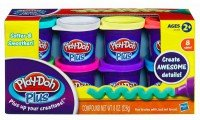 Hasbro Набор из 8 банок Play Doh PLUS Хасбро